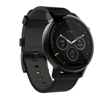 Motorola Moto 360 II Watch 42mm Black Leather (PRIORITY DELIVERY)
